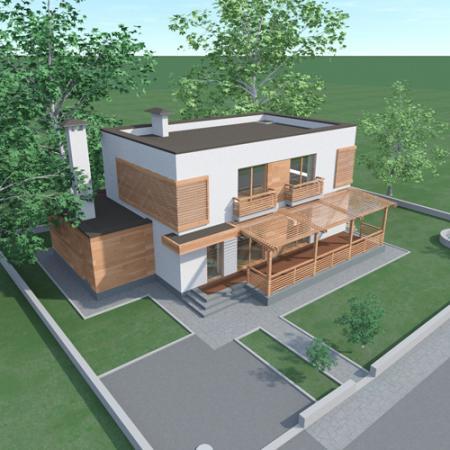 Проект современного двухэтажного
