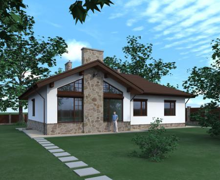 Дачный дом 6 на 8 с мансардой — проект, цена - Москва